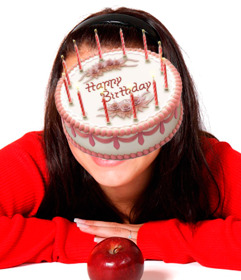 Sticker online of a birthday cake to insert into your images.
