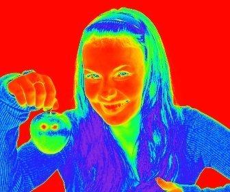 Filtro para fotos efecto termografía, que hace una imagen térmica de la imagen que subas.