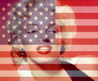 Ejemplo: Colagem para montar uma foto com a bandeira dos Estados Unidos.