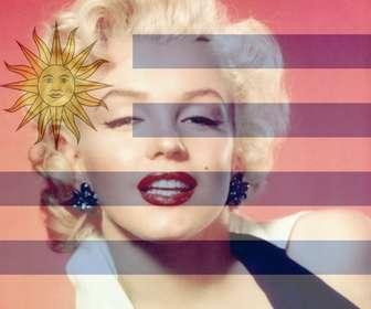 Ejemplo: Fotomontaje para poner tu foto junto con la bandera de Uruguay.