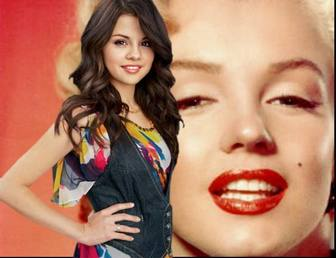 Photo effect to be with Selena gomez uploading your photo.