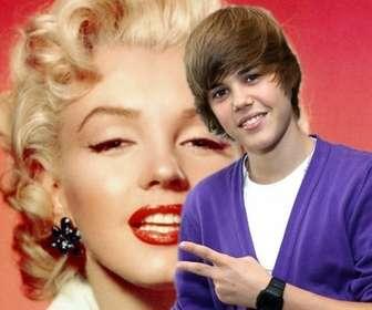 Ejemplo: Fotomontagem para tirar uma foto com Justin Bieber