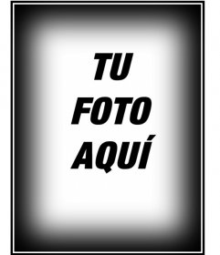 Marco consistente en un borde blanco y negro para fotos en vertical