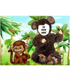 Disfraz de mono para niños en el que podrás poner una foto