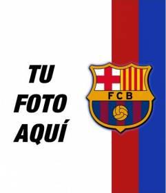 Pon los colores y el escudo del Barça en tu foto!! Fotomontaje del Barça