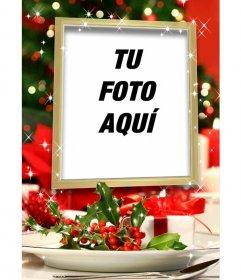 postal navide a para poner una foto dentro de un marco