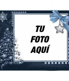 Postal de navidad clásica, personalizable con una foto