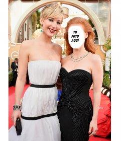 Posa junto a Jennifer Lawrence con este fotomontaje para hacer con tu foto