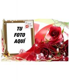 Tarjeta de amor para poner la foto que tu quieras con un for Cuadros para poner fotos