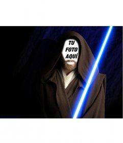 Fotomontaje de Obi Wan Kenobi de la película Stars Wars. Crea el fotomontaje con tu foto