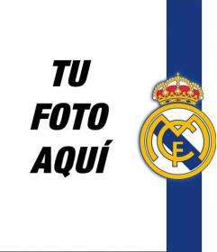Pon el escudo y los colores del Real Madrid con tu foto!