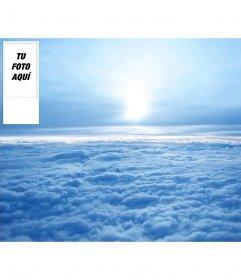 Fondo personalizado de twitter de cielo con nubes. Pon tu foto en el