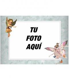 Marco para fotos con imagenes de hadas aladas en que poner una foto online
