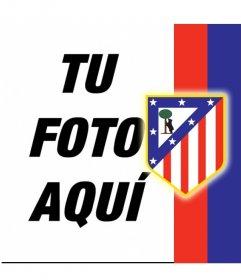 Pon el escudo del Atlético de Madrid y sus colores con tu foto!