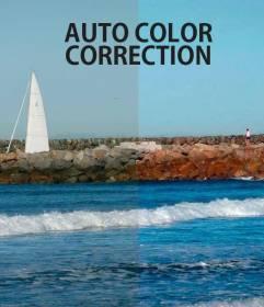 Auto corrección de color automático de fotos online