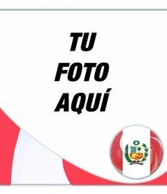 Bandera de Perú con forma de esfera para tus fotos online