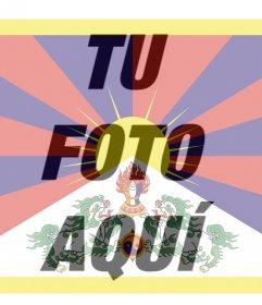 Foto filtro de la bandera del Tibet que puedes usar como tu foto de perfil