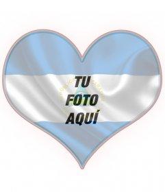 Collage con la bandera de Nicaragua en forma de corazón