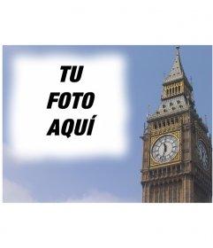 Fotomontaje para hacer una postal con el Big Ben de Londres, personalizada con tu foto. Acabado profesional y fácil edicion a través de esta página. 1044