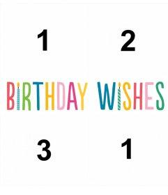 Collage de BIRTHDAY WISHES para cuatro fotos y celebrar tu cumpleaños