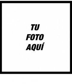 Marco para fotos con borde de color negro