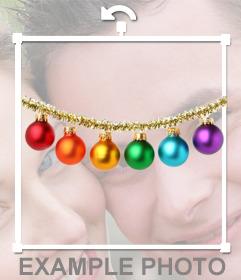 Sticker de bolas de Navidad para poner en tus fotos