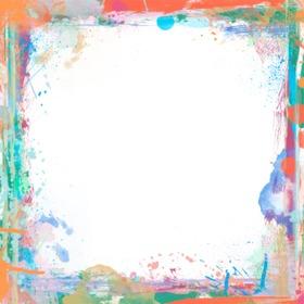 Marco para fotos con brochazos de pintura de colores - Marcos de fotos de pared ...