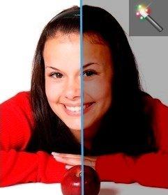 Efecto para quitarle brillo online a imágenes demasiado brillantes