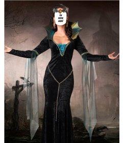 Fotomontaje para poner tu cara en el cuerpo de una bruja