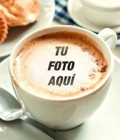 Fotomontaje para poner tu fotografía en la espuma de una taza de café