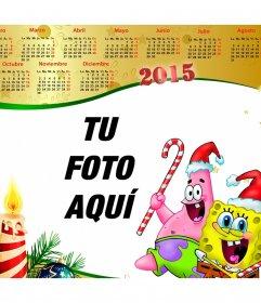 Calendario navideño del 2015 con Bob Esponja.