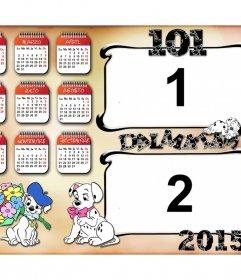Calendario infantil 2015 perritos 101 dálmatas.