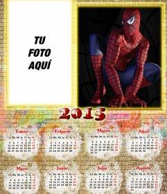 Calendario 2015 de Spiderman y tu foto justo al lado.