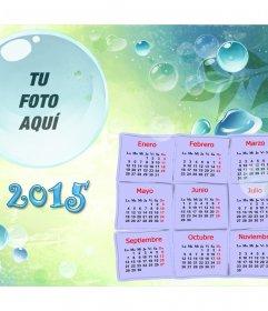 Calendario 2015 con tu foto dentro de una burbuja
