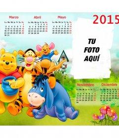 Calendario Winnie de Pooh 2015 para personalizar con fotos de niños y ...