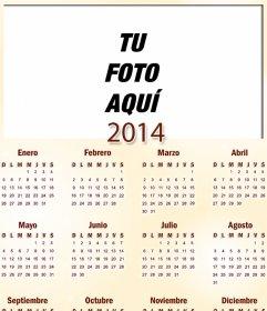 Calendario del año 2014 para México en el que puedes poner una fotog ...