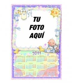 Calendario para el 2011 en castellano, personalizable con una foto.