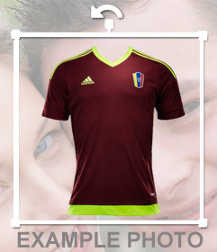 Camiseta del equipo de fútbol de Venezuela para añadir en tus fotos gratis