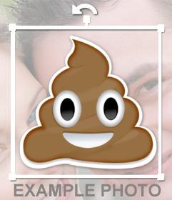 Emoticono de caca sonriente de whatsapp