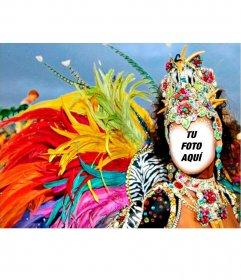 Fotomontaje de una garota de carnaval para poner tu foto