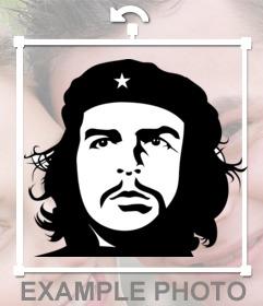 Efecto de la cara del Che Guevara en blanco y negro