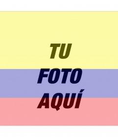 Fotomontaje con la imagen de la bandera de Colombia y tu foto.