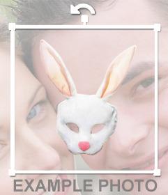 Máscara virtual de conejo para ponerte en tus fotos