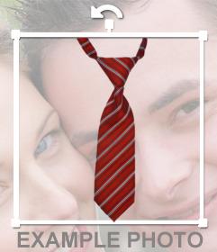 Fotomontaje de una corbata para insertar en tus fotos