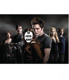 Fotomontaje de cine. Pon la cara que quieras en el cuerpo de Bella, la protegida del grupo de vampiros en la saga Crepúsculo.