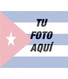 Collage para poner la bandera de Cuba junto con tu foto