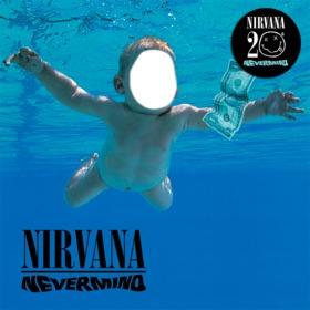 Fotomontaje con la portada del CD de Nirvana para editar