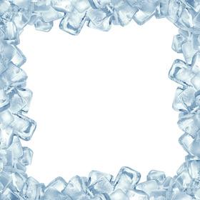 Marco para fotos hecho con cubitos de hielo