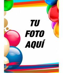 Marco para fotos con globos de colores