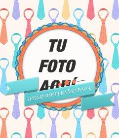 Postal De Cumpleaños Para Tu Padre Fotoefectos